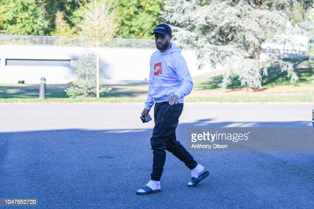 Nabil Fekir of France arrives for the training session of the France soccer team at Centre National du Football on October 8 2018 in Clairefontaine...