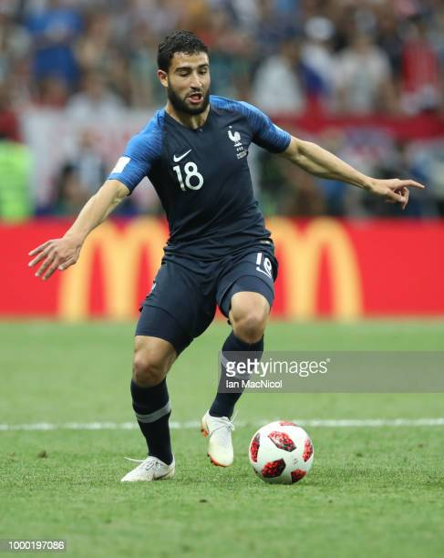 Nabil Fekir of France controls the ball during the 2018 FIFA World Cup Russia Final between France and Croatia at Luzhniki Stadium on July 15 2018 in...