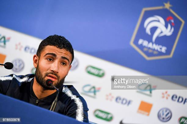 Nabil Fekir of France during Team France Press Conference on June 19 2018 in Moscow Russia