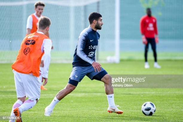 Nabil Fekir of France during Team France training session ahead of the FIFA World Cup 2018 on June 17 2018 in Istra Russia