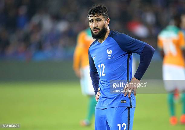Nabil Fekir of France looks on during the international friendly match between France and Ivory Coast at Stade Felix Bollaert Delelis on November 15...