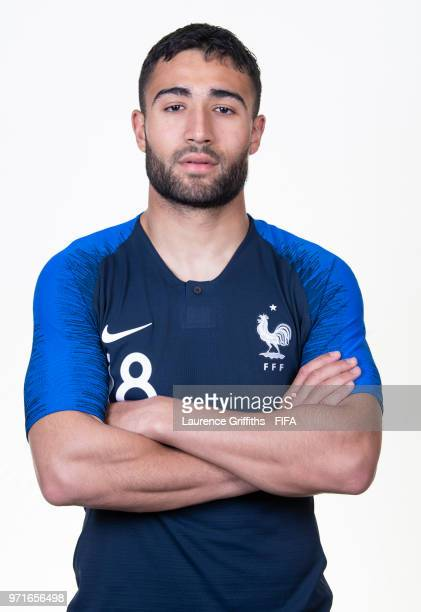 Nabil Fekir of France poses for a portrait during the official FIFA World Cup 2018 portrait session at the Team Hotel on June 11 2018 in Moscow Russia