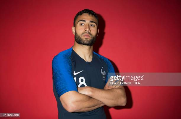 Nabil Fekir of France poses for a potrait at the team hotel during the official FIFA World Cup 2018 portrait session at on June 11, 2018 in Moscow,...