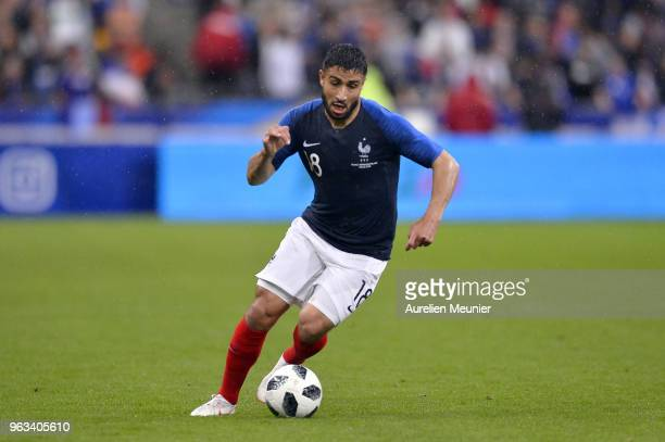 Nabil Fekir of France runs with the ball during the international friendly match between France and Republic of Ireland at Stade de France on May 28...