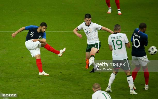 Nabil Fekir of France scores a goal during the international friendly match between France and Republic of Ireland at Stade de France on May 28, 2018...