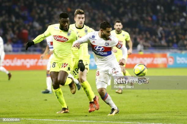 Nabil Fekir of Lyon and Ismaël Traore of Angers Photo by Romain Biard / Icon Sport
