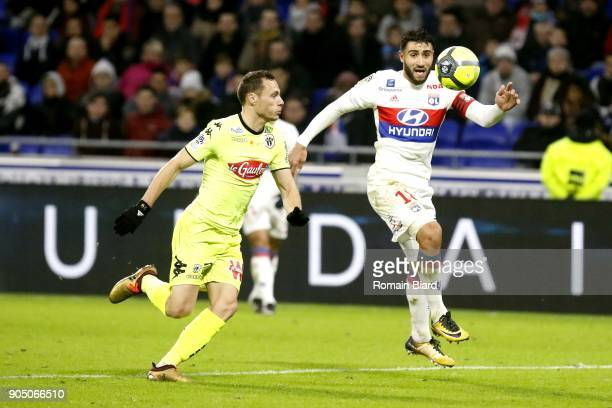 Nabil Fekir of Lyon and Vincent Manceau of Angers Photo by Romain Biard / Icon Sport