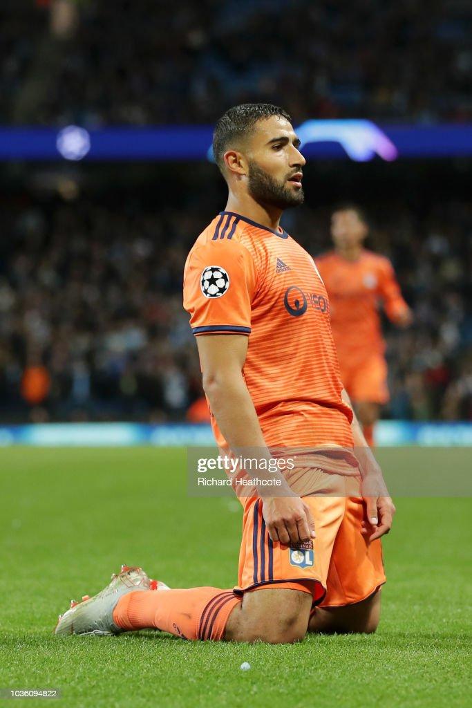 Nabil Fekir Of Lyon Celebrates After Scoring His Team S Second Goal