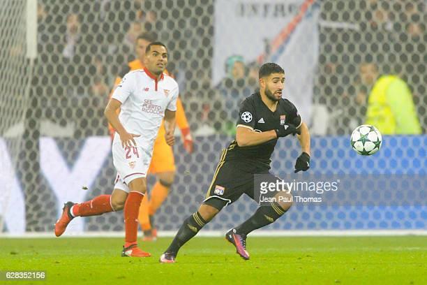 Nabil Fekir of Lyon during the Champions League match between Lyon and Sevilla at Stade des Lumieres on December 7 2016 in DecinesCharpieu France