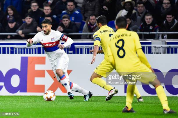 Nabil Fekir of Lyon during the Europa League match between Lyon and Villarreal at Groupama Stadium on February 15 2018 in Lyon France