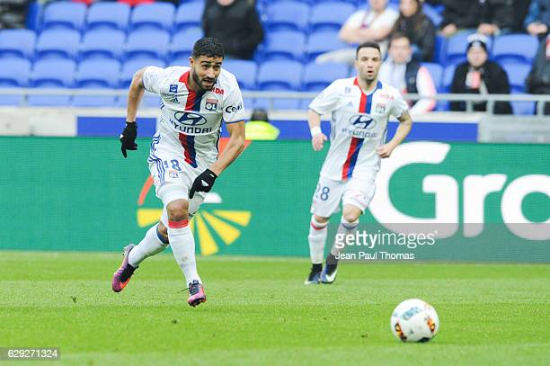 Nabil FEKIR of Lyon during the French Ligue 1 match between Lyon and Rennes at Stade des Lumieres on December 11 2016 in Decimes France