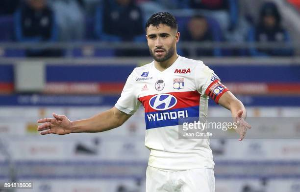 Nabil Fekir of Lyon during the French Ligue 1 match between Olympique Lyonnais and Olympique de Marseille at Groupama Stadium on December 17 2017 in...