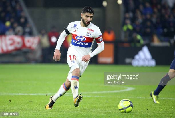 Nabil Fekir of Lyon during the French Ligue 1 match between Olympique Lyonnais and Paris Saint Germain at Groupama Stadium on January 21 2018 in Lyon...