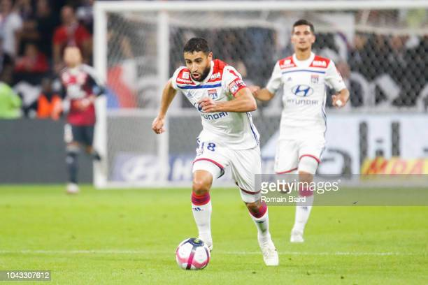 Nabil Fekir of Lyon during the Ligue 1 match between Lyon and Nantes at Parc Olympique on September 29 2018 in Lyon France