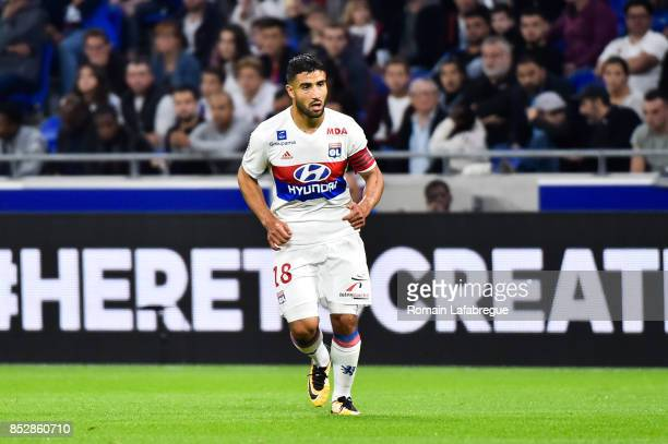 Nabil Fekir of Lyon during the Ligue 1 match between Olympique Lyonnais and Dijon FCO at Parc Olympique on September 23 2017 in Lyon