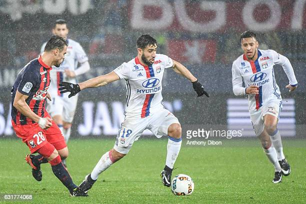 Nabil Fekir of Lyon during the Ligue 1 match between SM Caen and Olympique Lyonnais Lyon at Stade Michel D'Ornano on January 15 2017 in Caen France