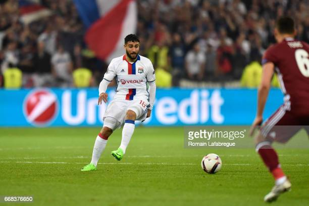 Nabil Fekir of Lyon during the Uefa Europa League quarter final first leg match between Olympique Lyonnais Lyon and Besiktas at Stade des Lumieres on...