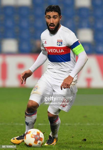 Nabil Fekir of Olympique Lyon in action during the UEFA Europa League group E match between Atalanta and Olympique Lyon at Mapei Stadium Citta' del...