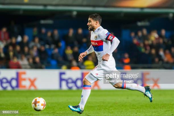 Nabil Fekir of Olympique Lyon in action during the UEFA Europa League 201718 Round of 32 match between Villarreal CF and Olympique Lyon at Estadio de...