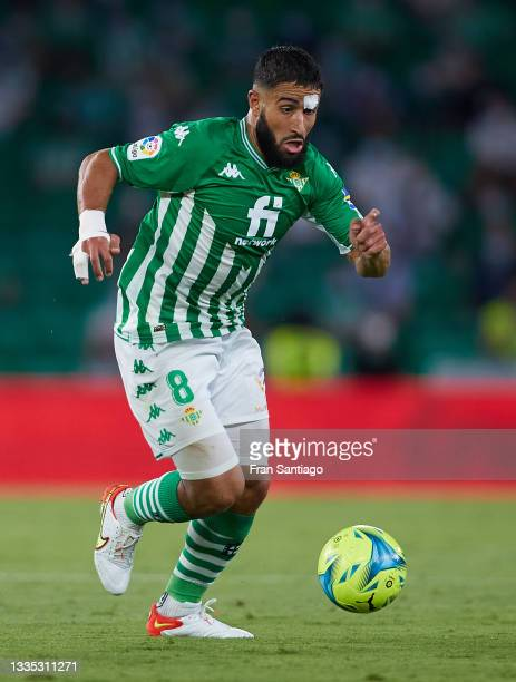 Nabil Fekir of Real Betis in action during the La Liga Santader match between Real Betis and Cadiz CF on Friday 20 August in Seville, Spain