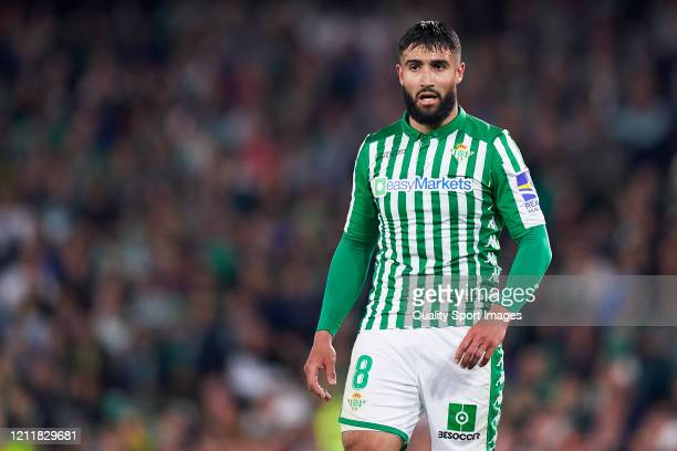 Nabil Fekir of Real Betis looks on during the La Liga match between Real Betis Balompie and Real Madrid CF at Estadio Benito Villamarin on March 08,...