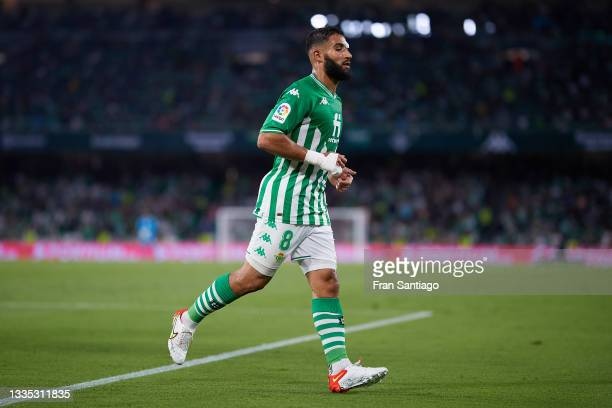 Nabil Fekir of Real Betis looks on during the La Liga Santader match between Real Betis and Cadiz CF on Friday 20 August in Seville, Spain