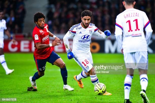 Nabil FEKIR / Ryan MENDES Lille / Lyon 27eme journee de Ligue 1 Photo Dave Winter / Icon Sport