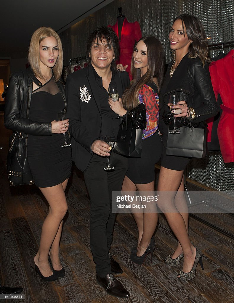 Nabil Hayari and Actresses Katie Maloney, Sheena Marie and Katie Doute attend Le Lounge on February 22, 2013 in Los Angeles, California.