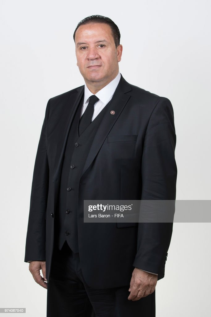Nabil Maaloul, Head coach of Tunisia poses during the official FIFA World Cup 2018 portrait session on June 13, 2018 in Moscow, Russia.