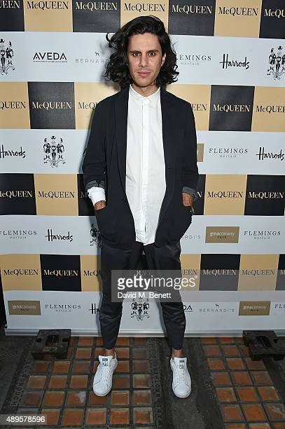 Nabil Nayal attends the exclusive viewing of 'McQueen' hosted by Karim Al Fayed for Lonely Rock Investments during London Fashion Week at Theatre...