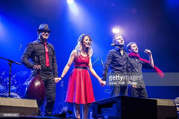 Nabila Dali opens for Idir at L'Olympia on February 4, 2013 in Paris, France.