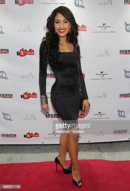 Nabila Tapia arrives at the Jencarlos Canela private concert to present his new album Jen at The Stage on May 6 2014 in Miami Florida