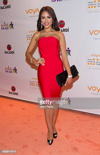 Nabila Tapia attends Amigos For Kids Voya Miami Celebrity Domino Night at Jungle Island on June 14 2014 in Miami Florida