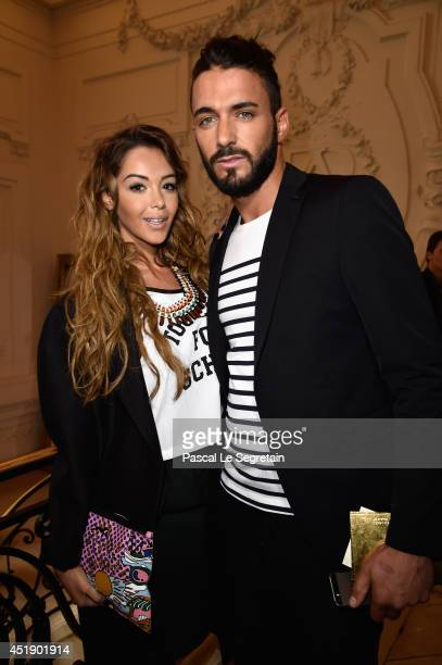 Nabilla Benattia and Thomas Vergara attend the Jean Paul Gaultier show as part of Paris Fashion Week Haute Couture Fall/Winter 20142015 at 325 Rue...