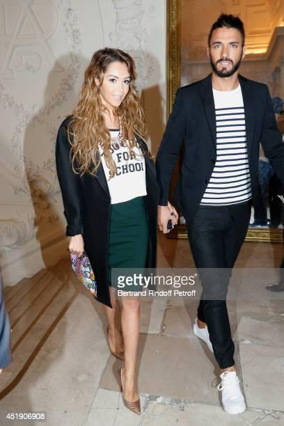 Nabilla Benattia and Thomas Vergara attend the Jean Paul Gaultier show as part of Paris Fashion Week Haute Couture Fall/Winter 20142015 Held at 325...