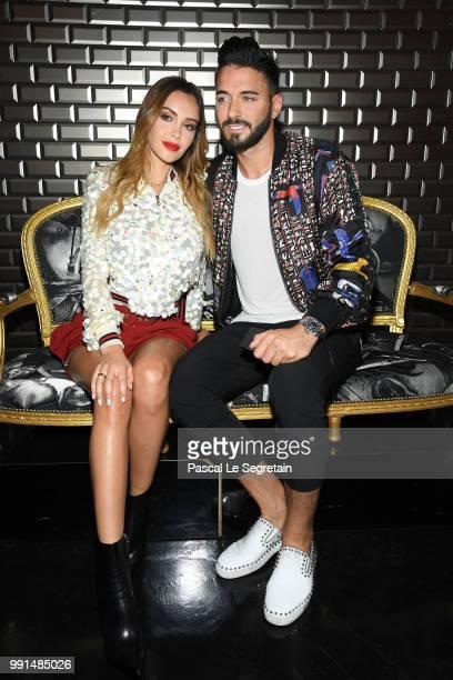 Nabilla Benattia and Thomas Vergara attend the JeanPaul Gaultier Haute Couture Fall Winter 2018/2019 show as part of Paris Fashion Week on July 4...