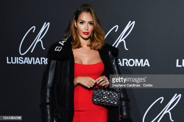Nabilla Benattia attends the CR Fashion Book x LuisaViaRoma Photocall as part of the Paris Fashion Week Womenswear Spring/Summer 2019 on October 1...