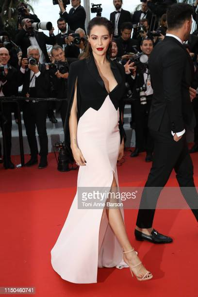 Nabilla Benattia attends the screening of A Hidden Life during the 72nd annual Cannes Film Festival on May 19 2019 in Cannes France