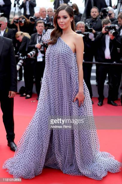 Nabilla Benattia attends the screening of Oh Mercy during the 72nd annual Cannes Film Festival on May 22 2019 in Cannes France