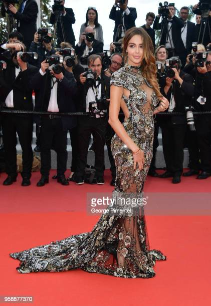 Nabilla Benattia attends the screening of 'Solo A Star Wars Story' during the 71st annual Cannes Film Festival at Palais des Festivals on May 15 2018...