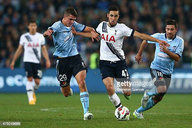 Nabli Bentaleb of Hotspur breaks the Sydney FC defence during the international friendly match between Sydney FC and Tottenham Spurs at ANZ Stadium...