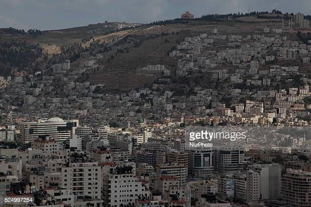 Nablus in the northern West Bank 49 km north of Jerusalem on May 31 2015 Nablus city northern of the Palestinian territories of the West Bank 49 km...