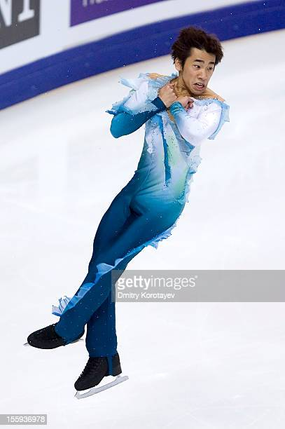 Nabunari Oda of Japane skates in the Men Short Program during ISU Rostelecom Cup of Figure Skating 2012 at the Megasport Sports Center on November 09...