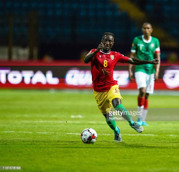 Naby Deco Keita of Guinea during the African Cup of Nations match between Guinea and Madagascar at the Alexandria Stadium in Alexandia Egypt on June...