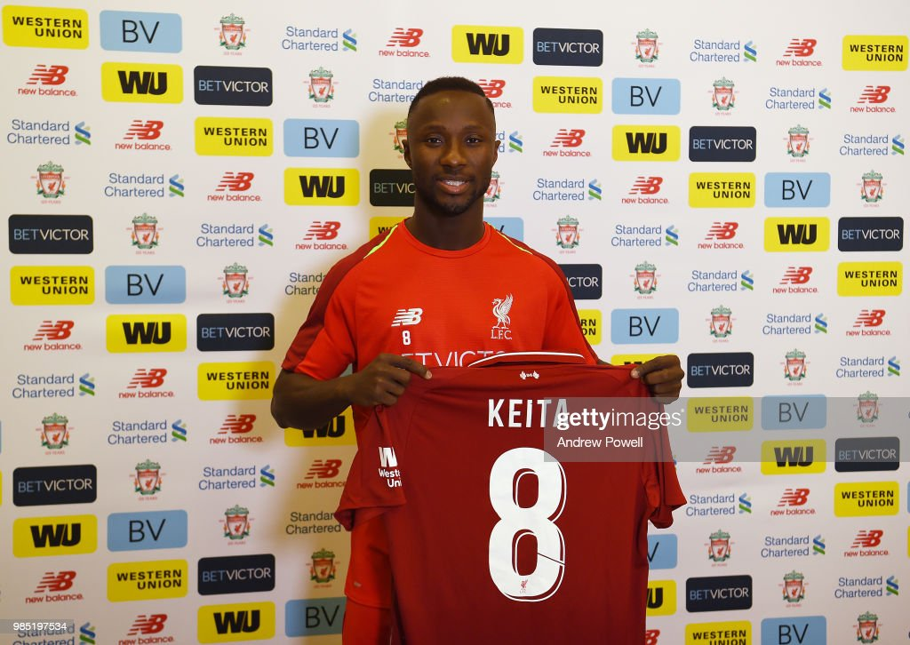 Liverpool Unveil New Signing Naby Keita : News Photo