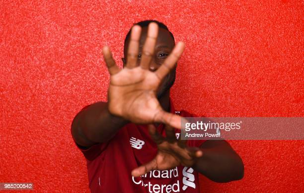 Naby Keita new signing of Liverpool Football club at Melwood Training Ground on June 22 2018 in Liverpool England