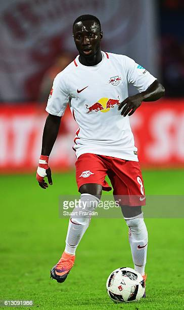 Naby Keita of Leipzig in action during the Bundesliga match between RB Leipzig and FC Augsburg at Red Bull Arena on September 30 2016 in Leipzig...