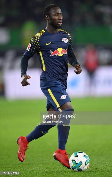 Naby Keita of Leipzig in action during the Bundesliga match between VfL Wolfsburg and RB Leipzig at Volkswagen Arena on December 12 2017 in Wolfsburg...