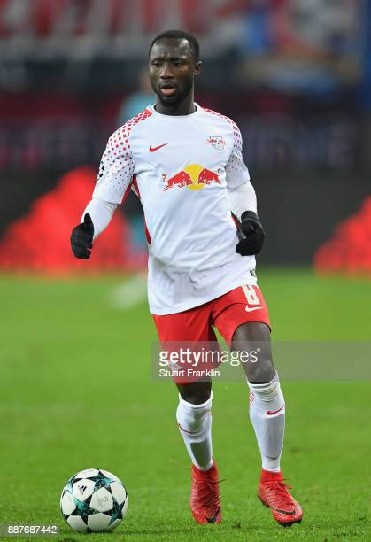 Naby Keita of Leipzig in action during the UEFA Champions League group G match between RB Leipzig and Besiktas at Red Bull Arena on December 6 2017...