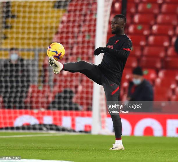 Naby Keita of liverpool before the Premier League match between Liverpool and Wolverhampton Wanderers at Anfield on December 06, 2020 in Liverpool,...